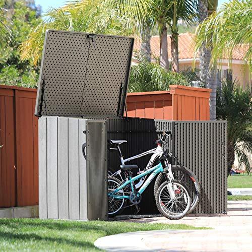 Lifetime Mülltonnenbox Kunststoff Mülltonnenbox, Gerätebox, Aufbewahrungsbox Dunkelgrau - 7