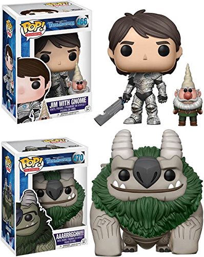 Funko POP Trollhunters Jim with Gnome AAARRRGGHH Stylized Vinyl Figure Bundle Set NEW