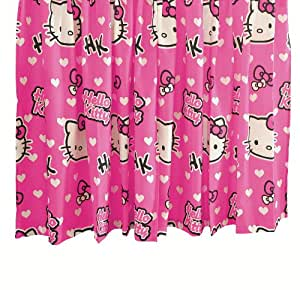 Character World 72-inch Hello Kitty Hearts Curtains