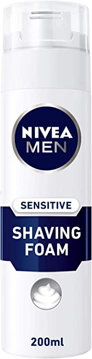 NIVEA, MEN, Shaving Foam, Sensitive, 200ml