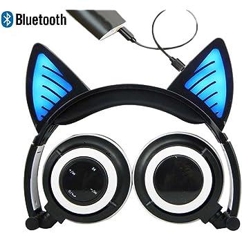 bluetooth mic wiederaufladbare wireless headsets katze ohr. Black Bedroom Furniture Sets. Home Design Ideas