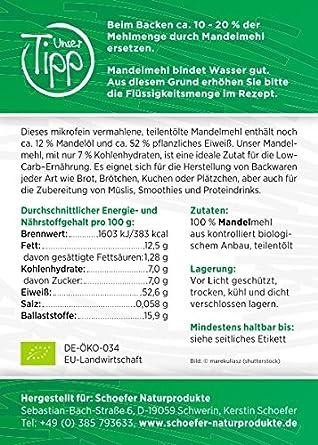 Bio Mandelmehl Teil-Entölt | Glutenfreie Weizenmehl-Alternative