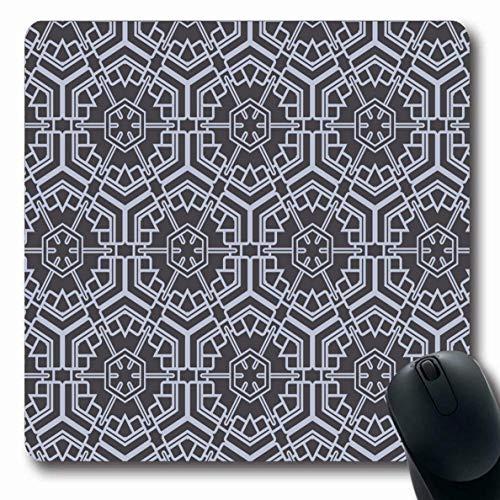 Mauspads für Computer Mosaik Bluse Geometrisches Muster Abstrakt Zelle Leinwand Farbe Tröster Bettdecke Design Patchwork rutschfeste Längliche Gaming-Mausunterlage -