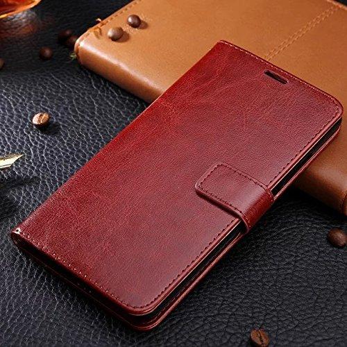 Wkae Case Cover BBK V3 Fall feste Folio magnetische Design Flip Brieftasche Stil Fall Farbmuster PU-Leder-Abdeckung Standup-Abdeckungsfall für BBK V3 ( Color : Brown , Size : BBK V3 ) Brown