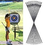 Funtress 29 '' in fibra di vetro Frecce Cocche impennate Caccia Target Practice archery broadhead compatibile con Compound e Arco Ricurvo