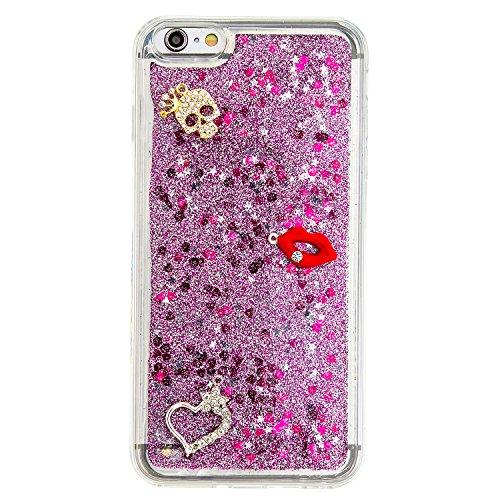 Strass Coque iPhone 6 Plus / 6S Plus Case 3D Liquide Sables Mouvants Design, Sunroyal Bling Glitter Paillettes en Soft TPU Coque pour iPhone 6 Plus / 6S Plus (5,5 pouces) Etui Bumper Dual Layer Plasti A-13