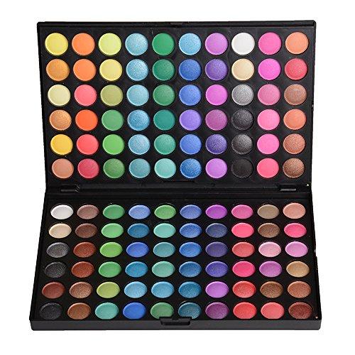 JasCherry 120 Farben Matt und Schimmern Lidschatten Makeup Paletten - Sleek Pulver Augenschatten Make Up Etui Box - Satte Farben Kosmetik Eyeshadow Palette