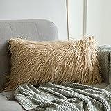 MIULEE Soft Solid Dekorative Quadrat Pelz Throw Kissenbezüge Set Kissen