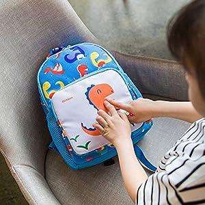 61avimeS UL. SS300  - Bolsa de escuela de niños dinosaurios, mochila de dibujos animados de niños pequeños con mochila preescolar de riendas…