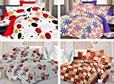 12 Pcs Combo of 100% Cotton 4 Double Bed...