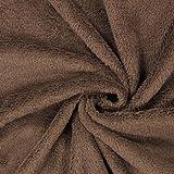 Fabulous Fabrics Teddy Plüsch Kuschel braun — Meterware ab 0,5m — zum Nähen von Jacken und Mänteln, Accessoires und Pullovern