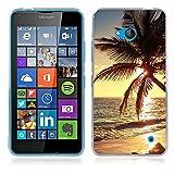 Fubaoda Coque Nokia Microsoft Lumia 640, Belle et Romantique série Paysage Étui TPU Silicone élégant et Sobre pour Nokia...
