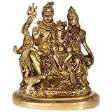 Kapasi Handicrafts Lord Shiva Ganesh Kartik / Shiva Parivar Brass Idol Statue (5 x 3 x 6 Inches)