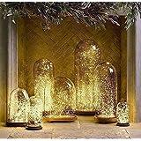 MonTrüe Solar LED Lichterkette Garten, 10m 100er Außen Kupferdraht LED Lichter - Warmweiß