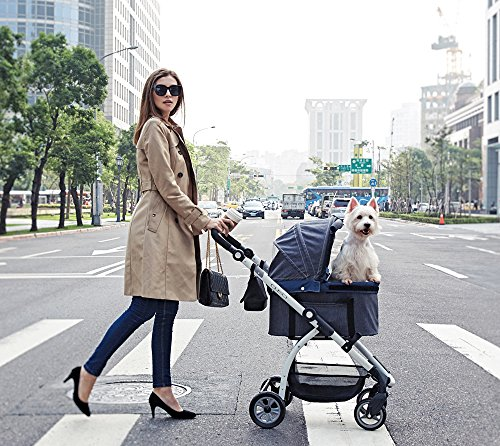 IbiyayaExpress Travel System Denim Pet Stroller 2