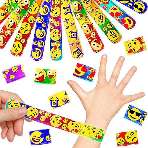 - 12 x Emoji Klatscharmbänder Mix für Kinder ┃ Schnapparmbänder ┃ Mitgebsel ┃ Kindergeburtstag ┃ Emoticons ┃ 12 Stück (Halloween-brief-schriften)