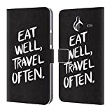 Offizielle Cat Coquillette Eat Well Travel Often Schwarz