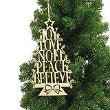 VIDOO Weihnachtsfeier Haus Dekoration Englisch Alphabet Baum Hängende Ornament-Spielzeug Für Kinder Kindergeschenk