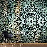murando – Papier peint intissé 350x256 cm – Trompe l oeil - Tableaux muraux – Déco – XXL – Mandala - Abstraction - Ornament f-A-0508-a-b
