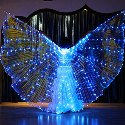 terling Fairy Wing Glow Light Rods-Wings 316 LED Luminous Up Stage Performance Eröffnung für Tanzbedarf Requisiten Maskeradekarneval,Blue ()
