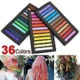 36 Farben Haar Kreide Haarfarbe Haarkreide Farbe Färben Haartönung