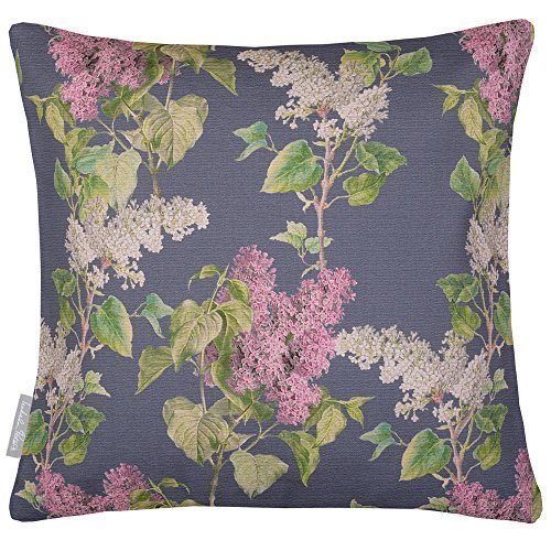 Outdoor Kissen Garten wasserdicht - Abend Garten - Design gedruckt & handgefertigt in Großbritannien - Graphit, 40 x 40 cm