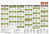 Brunnen 1070150 Tischkalender/Tafelkalender A 5 Modell 701 50, 1 Seite = 6 Monate, kräftiger Karton, Kalendarium 2019