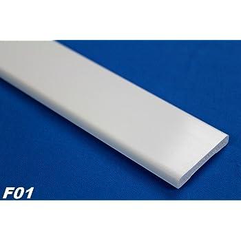 2 m pvc plastique profil plat plat barre lisse antichoc 6 x 40 mm f01 bricolage. Black Bedroom Furniture Sets. Home Design Ideas
