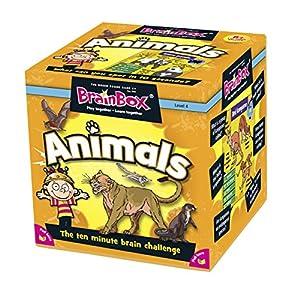 Green Board Games BrainBox Animals – Juego de Preguntas sobre Animales (en inglés)