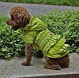 Cappotto per animali domestici, ispessimento foderato in cotone con cappuccio giacca a vento sottile antivento cappotto giacca fredda inverno caldo Pet piccolo cane vestiti petto protettore casual cappotto sportivo 4 colori e 6 dimensioni