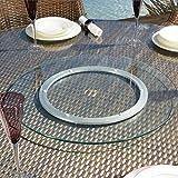 drehplatte 55 cm displus glasdrehplatte ma 20 glas drehteller esg 8 mm dick auf. Black Bedroom Furniture Sets. Home Design Ideas
