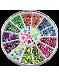Joyeee 3D Nail Art Glitter Roue De Strass Ronds Décoratifs Pour Ongles Carrousel Strass Boites Cristal Ongle DIY Manucure Décoration #5