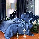 Pure color seide/tencel silk sheet/quilt cover/einzel-doppel-quilt/bettwäsche-M 225x250cm(89x98inch)