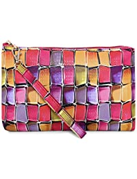 AVINISA A008 PURPLE-PINK-YELLOW COSMETIC BAG, COSMETIC POUCH, VANITY BAG, POUCH, UTILITY BAG, MAKEUP KIT, TRAVEL...