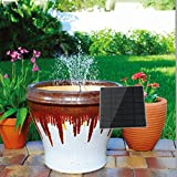 New and Inproted 180L/H Solar Power Panel Submersible Fountain Pond Power Water Pump