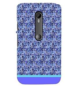 PrintDhaba Shapes Pattern D-1488 Back Case Cover for MOTOROLA MOTO G3 (Multi-Coloured)