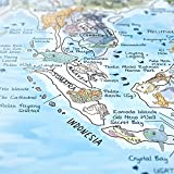 DIVE MAP - Taucher-Weltkarte von Awesome Maps / Ausführung: Englisch /...