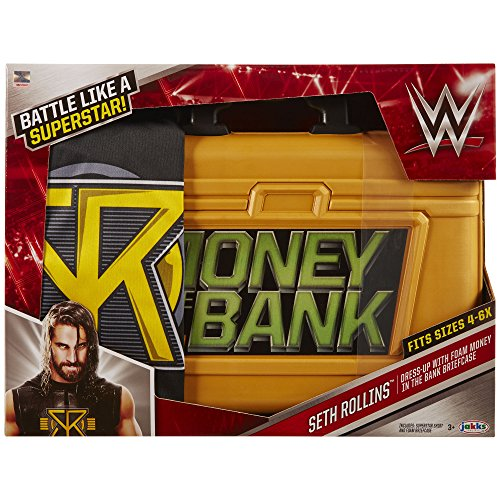 WWE Seth Rollins Money-In-The-Bank-Koffer für Kinder (Wwe Kostüme)