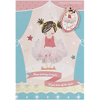 Hallmark 4th Birthday Card For Her With Badge And Stickers