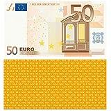 50 EURO Spielgeld - verkleinert auf 75% des Originals, 100 Stück