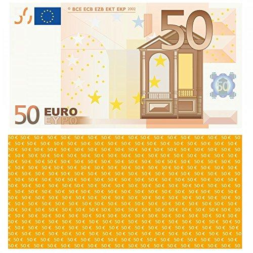LYSCO® 50 Euro Spielgeld - verkleinert auf 75{90e780fe6c4524ef7f8ae90555e65beb205635b76029492b035ccc52d1a30b89} des Originals, 100 Stück