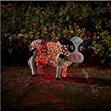 Smart Solar Metal Silhouette Daisy Cow
