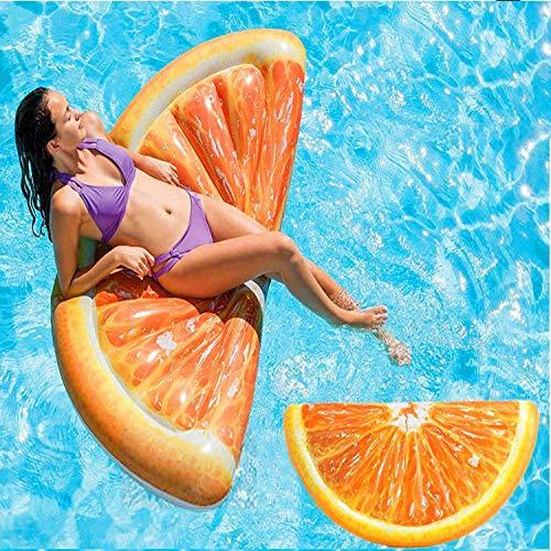 chwimmt für Kinder Schwimmbadzubehör Cartoon-Schwimmring Wasser aufblasbares Spielzeug Schwimmendes Bett Verdickte Sicherheit für Sommerurlaub Pool-Party Reise (Orange) ()