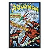 Aquaman DC Comics Auténtica Tarjeta Postal con Marco Fire Trolls Superhero Regalo Divertido