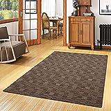 Snapstyle Streifenberber Teppich Modern Stripes Braun in 24 Größen