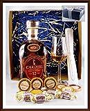 Geschenk Cardhu 12 Jahre Whisky + 10 Edel Schokoladen von DreiMeister & DaJa + 4 Whisky Fudge + Glas, kostenloser Versand