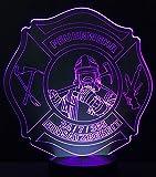 Feuerwehr LED Leuchte Lampe Nachtlicht Designleuchte fireLED mit 6 versch. Farben Touchfunktion Test
