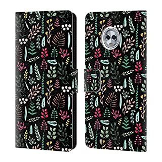 Official Anis Illustration Colourful Leaves Foliage Leather Book Wallet Case Cover For Motorola Moto G6
