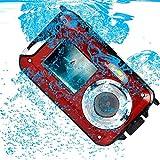 PowerLead Doppelte Bildschirme Wasserdichte Digitalkamera 2.7-Zoll-Front LCD mit 2.9inch Kamera Bild
