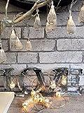 Homes on Trend argento stringa di 10sfere di metallo/contorno LED Filo lucine albero di Natale, metallo, Ball